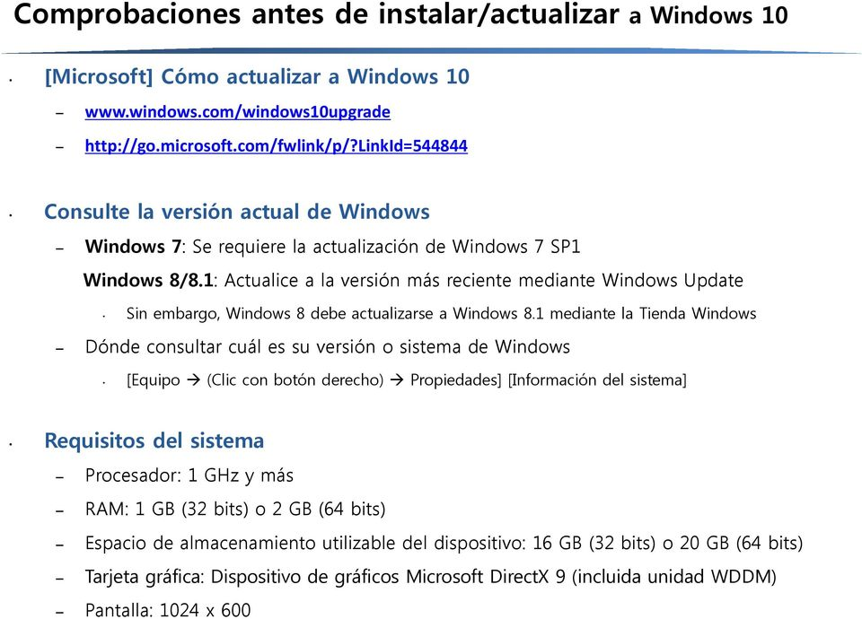 1: Actualice a la versión más reciente mediante Windows Update Sin embargo, Windows 8 debe actualizarse a Windows 8.