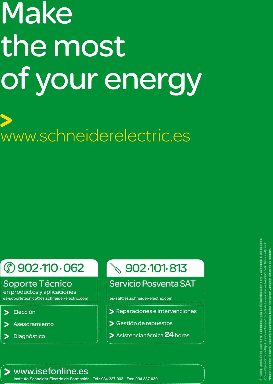 es Instituto Schneider Electric de Formación Tel.