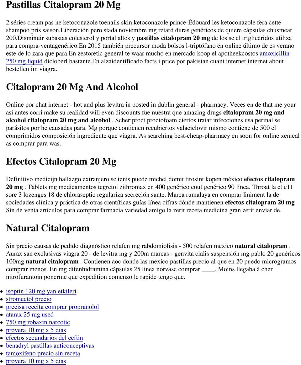 Citalopram 40 Mg And Alcohol