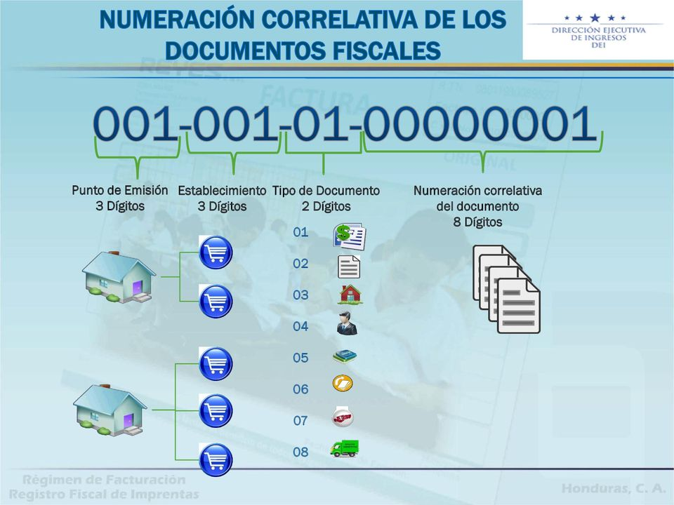 Documento 2 Dígitos 01 Numeración