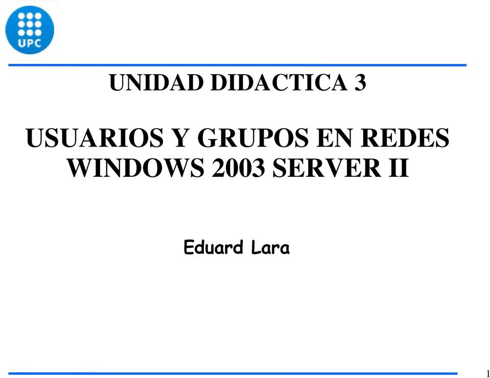 REDES WINDOWS 2003