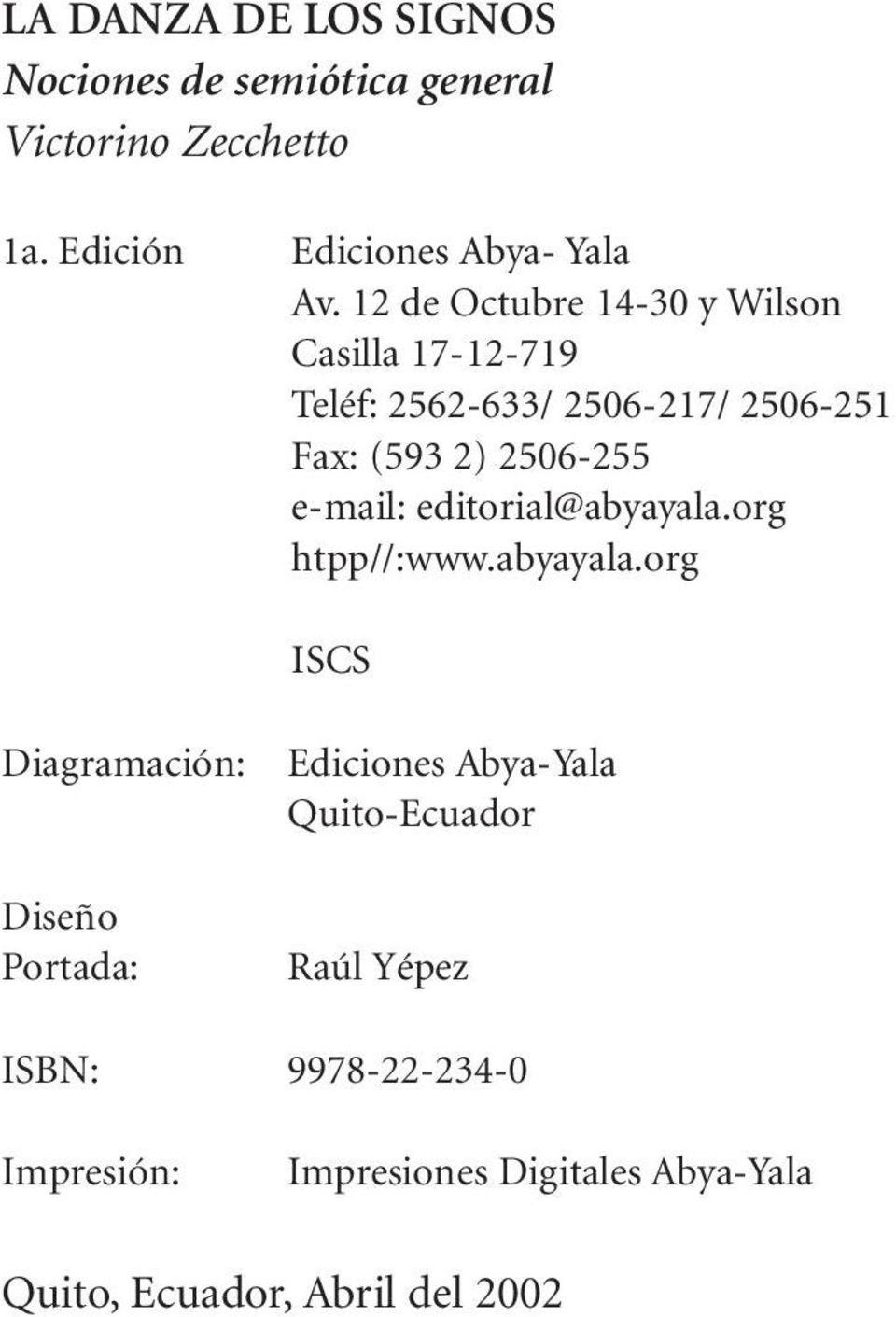 e-mail: editorial@abyayala.
