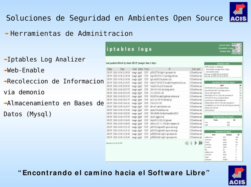 Web-Enable Recoleccion de Informacion via demonio