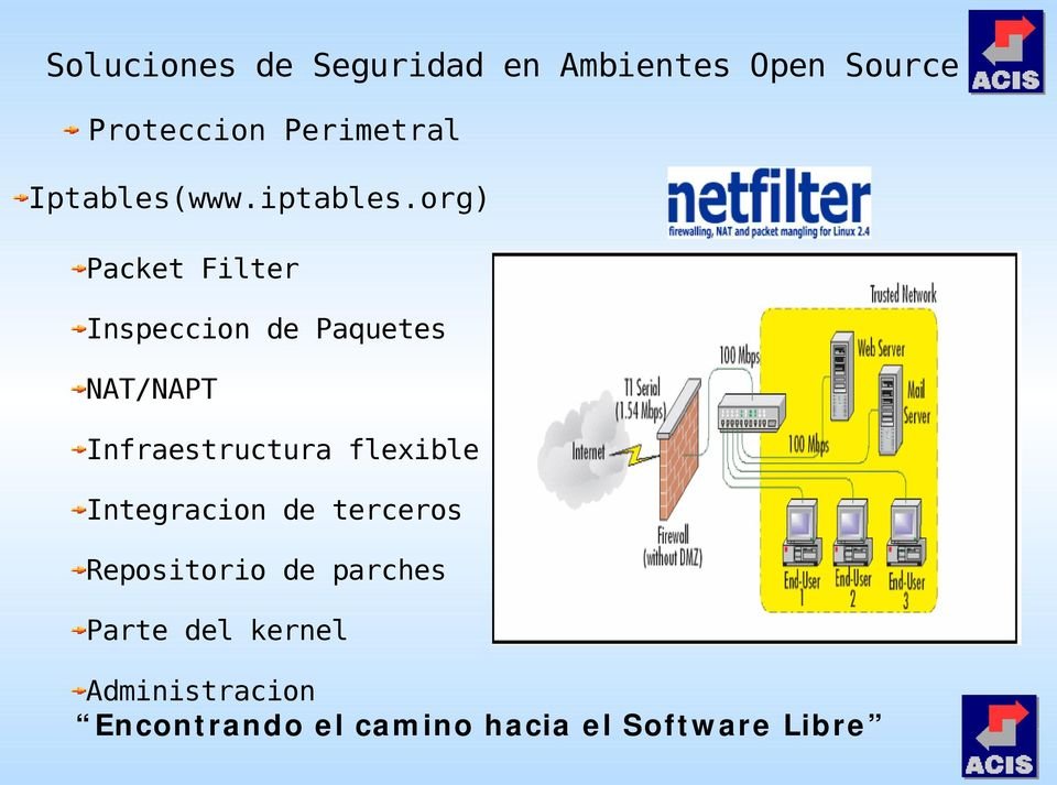 org) Packet Filter Inspeccion de Paquetes NAT/NAPT Infraestructura