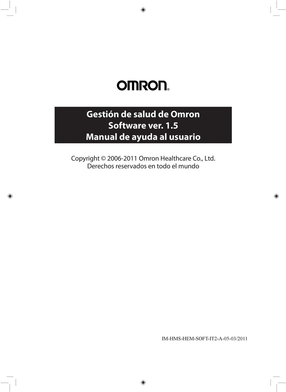 2006-2011 Omron Healthcare Co., Ltd.