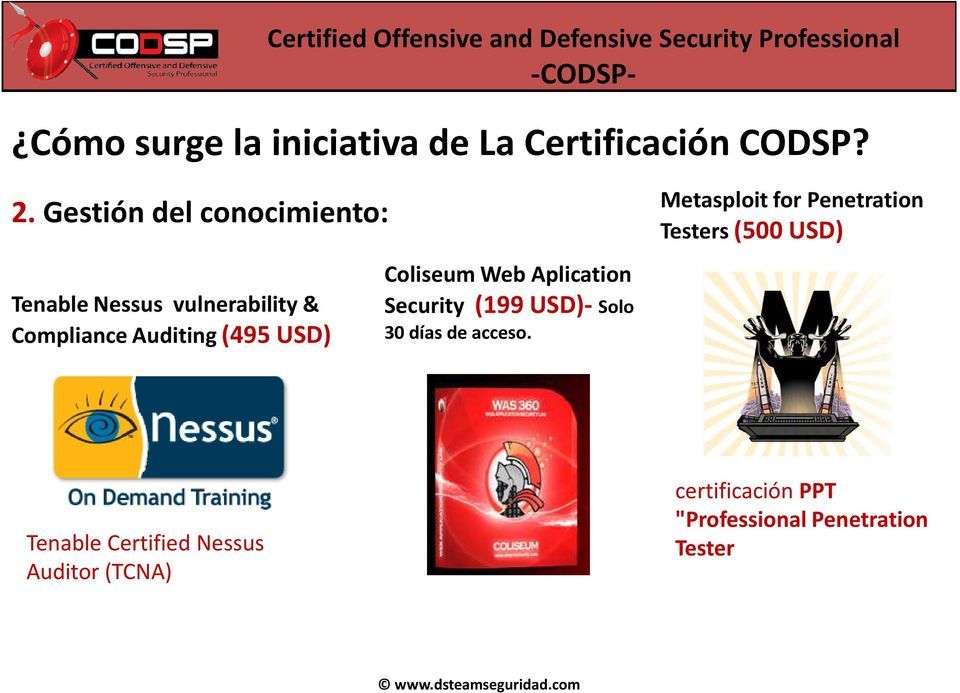 Coliseum Web Aplication Security (199 USD)- Solo 30 días de acceso.