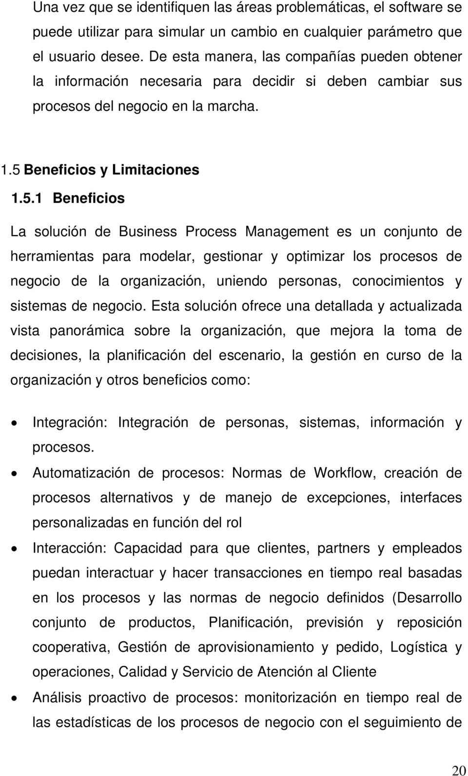 Beneficios y Limitaciones 1.5.