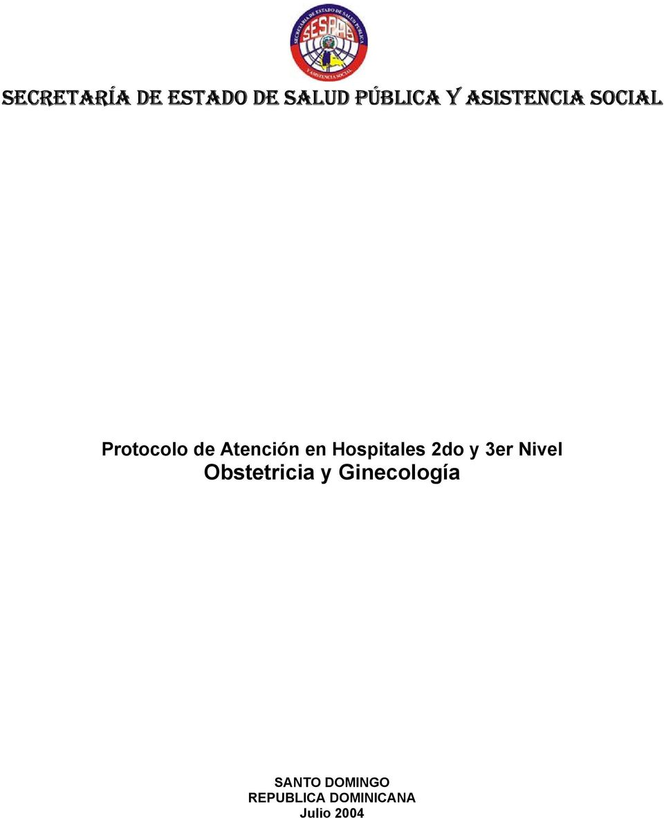 Hospitales 2do y 3er Nivel Obstetricia y