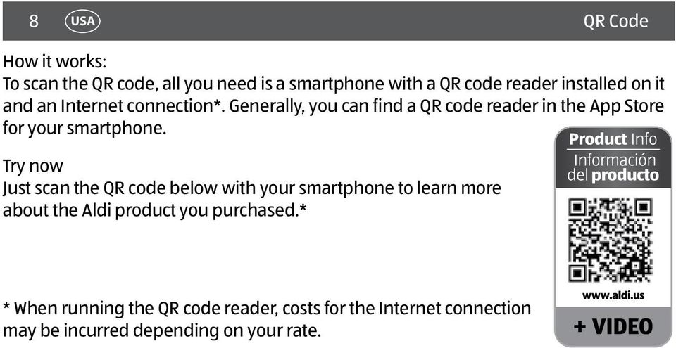 Generally, you can find a QR code reader in the App Store for your smartphone.