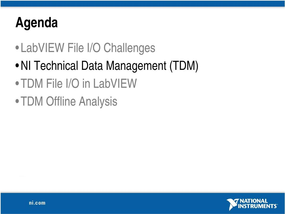 Management (TDM) TDM File