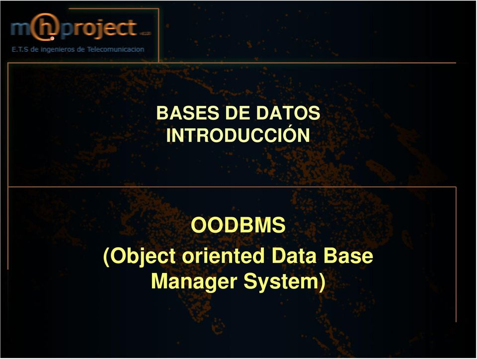 (Object oriented