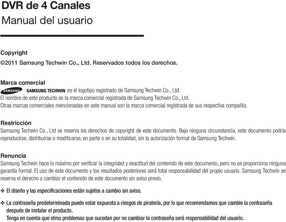 , Ltd se reserva los derechos de copyright de este documento.