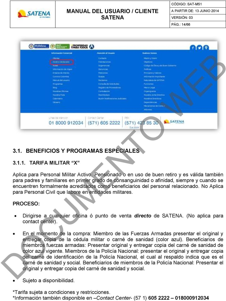 BENEFICIOS Y PROGRAMAS ESPECIALES 3.1.