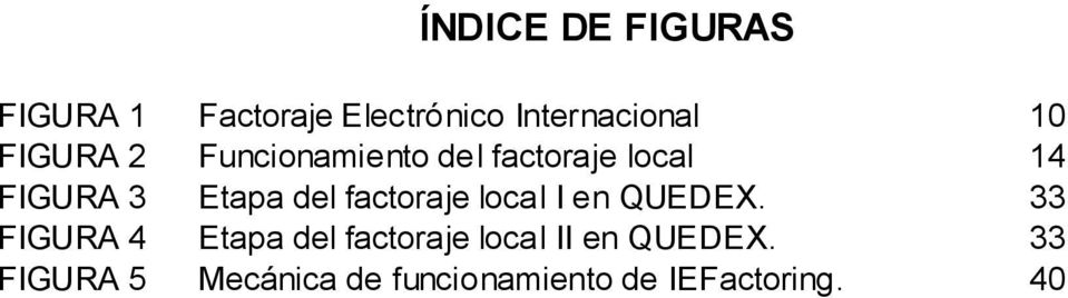 factoraje local I en QUEDEX.