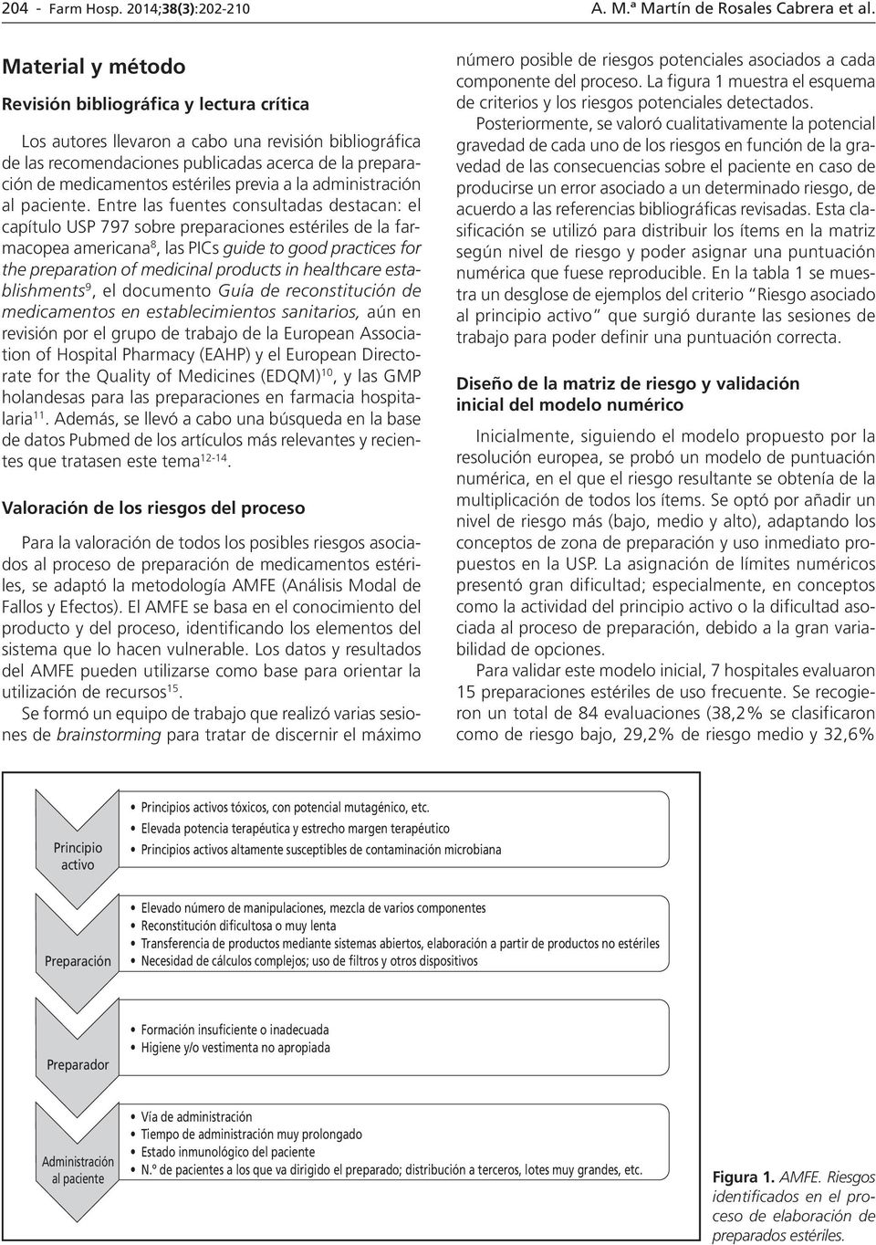 estériles de la farmacopea americana 8, las PIs guide to good practices for the preparation of medicinal products in healthcare establishments 9, el documento Guía de reconstitución de medicamentos