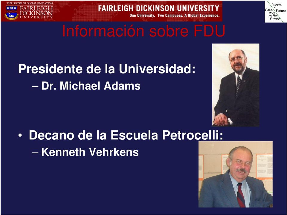 Dr. Michael Adams Decano de