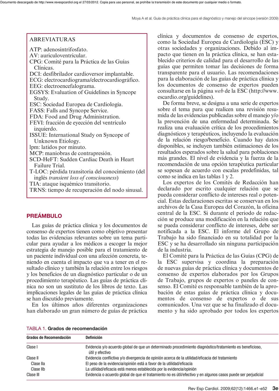 FDA: Food and Drug Administration. FEVI: fracción de eyección del ventrículo izquierdo. ISSUE: International Study on Syncope of Unknown Etiology. lpm: latidos por minuto.