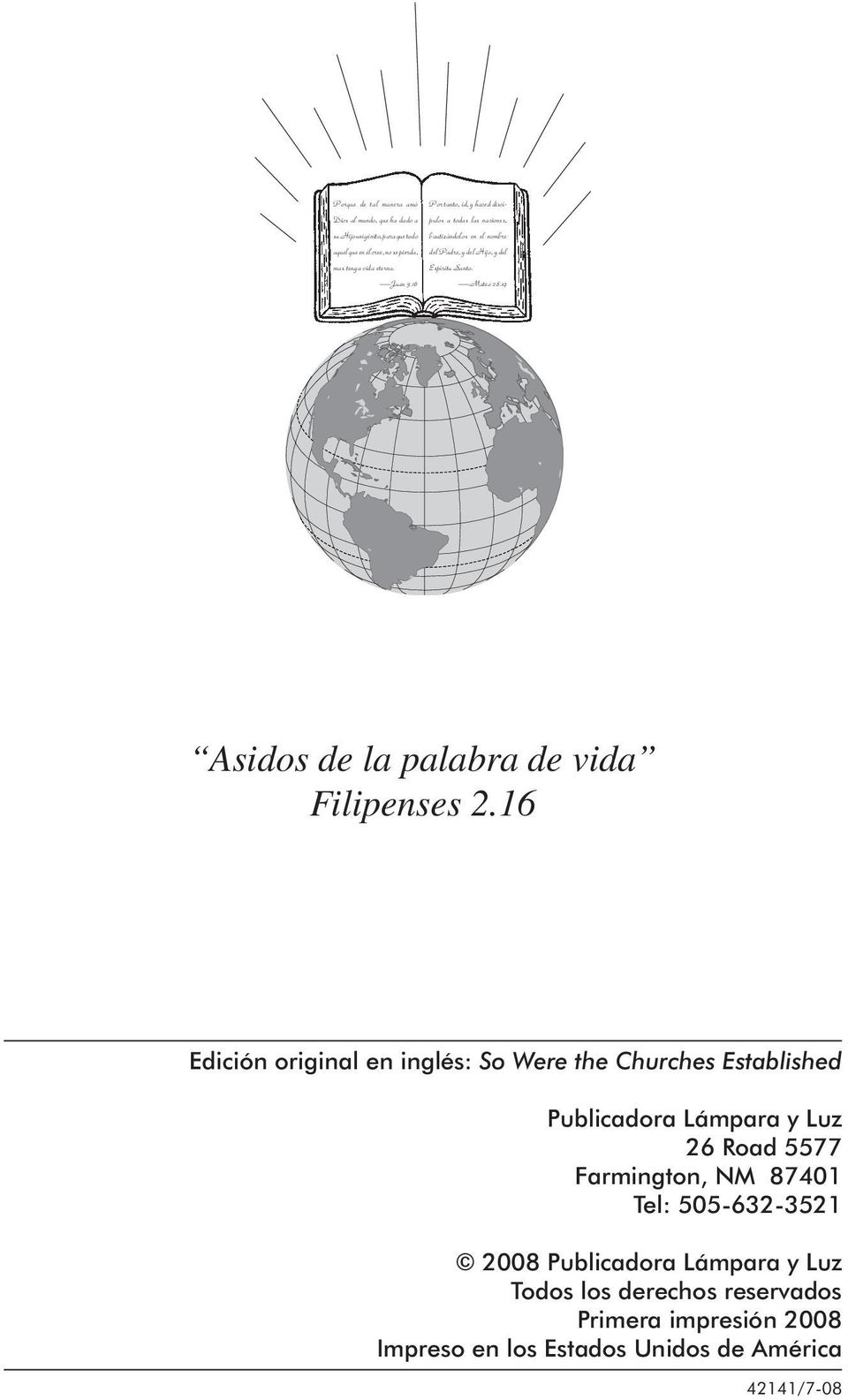 19 Asidos de la palabra de vida Filipenses 2.