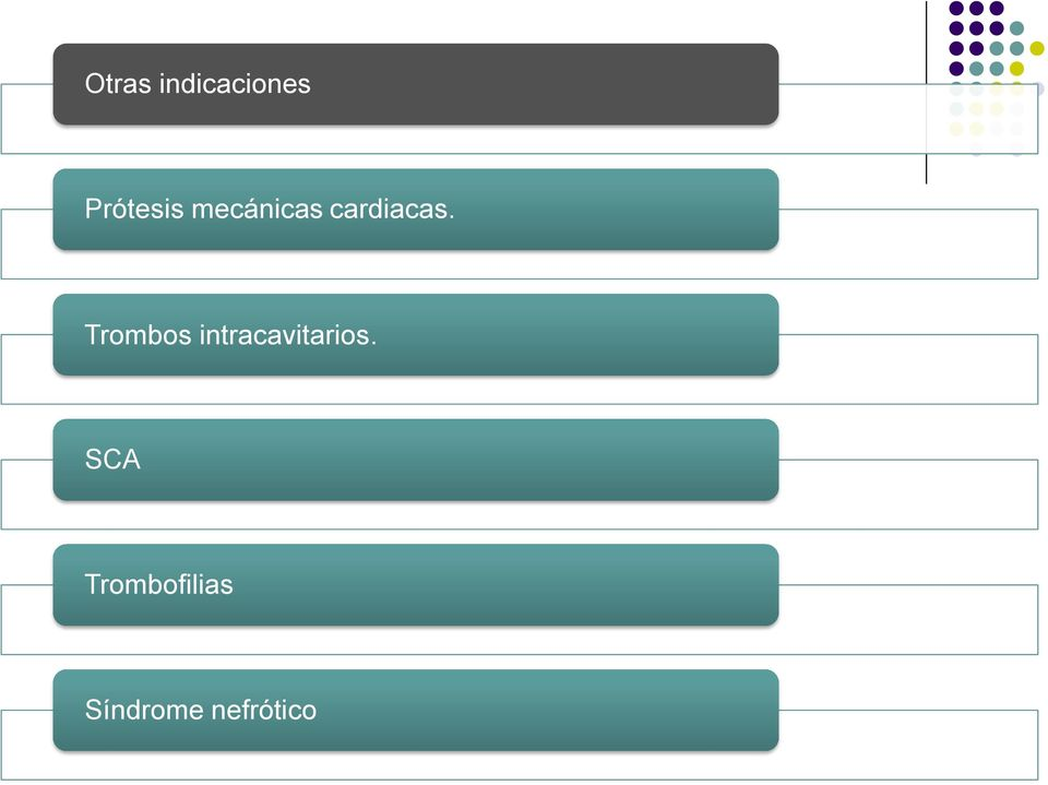 Trombos intracavitarios.