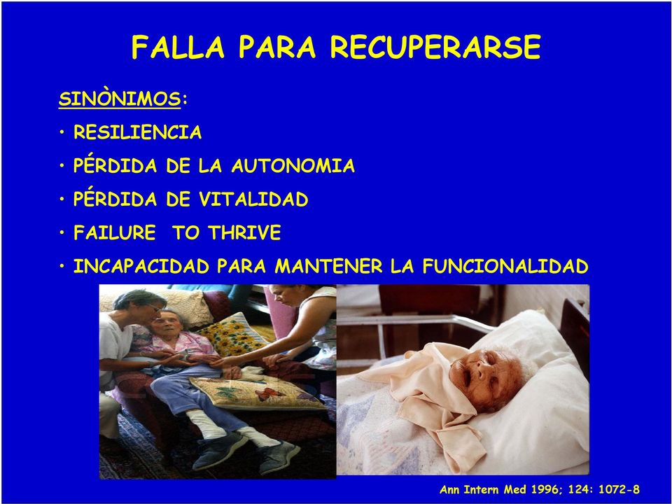FAILURE TO THRIVE INCAPACIDAD PARA MANTENER