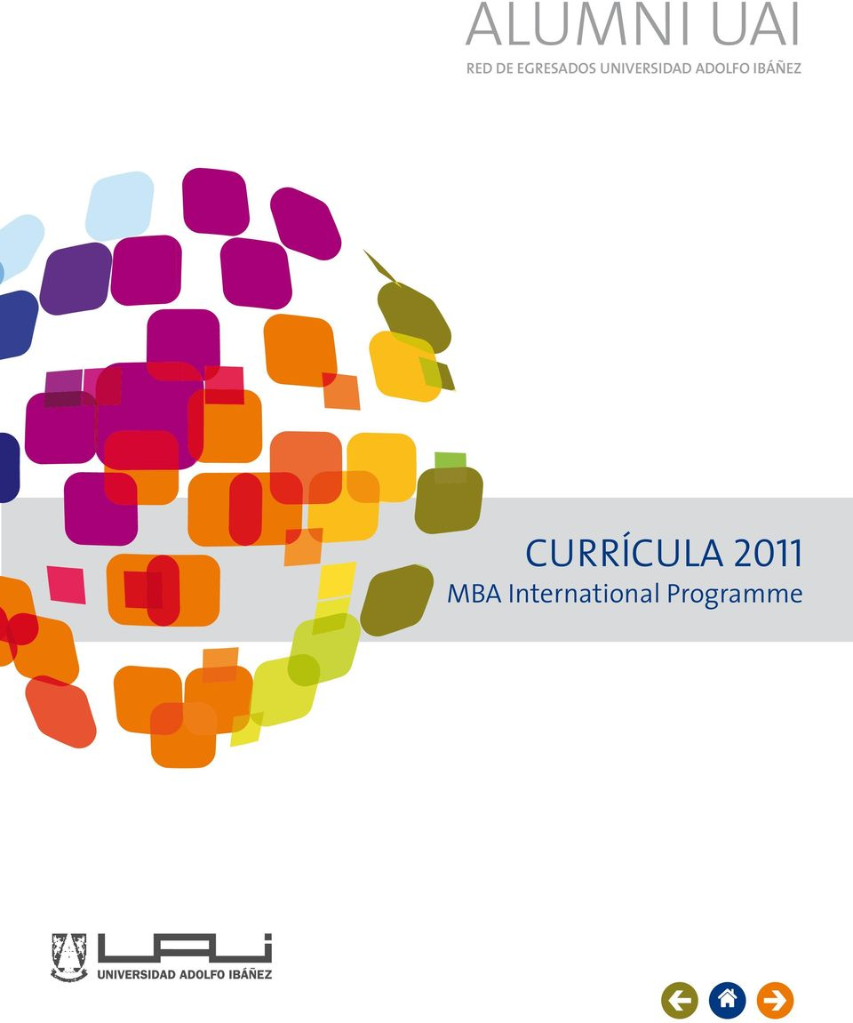 ALUMNI UAI CURRÍCULA MBA International Programme RED DE EGRESADOS ...