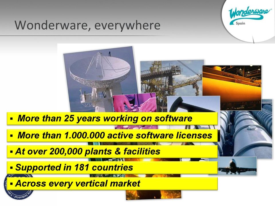 000 active software licenses At over 200,000