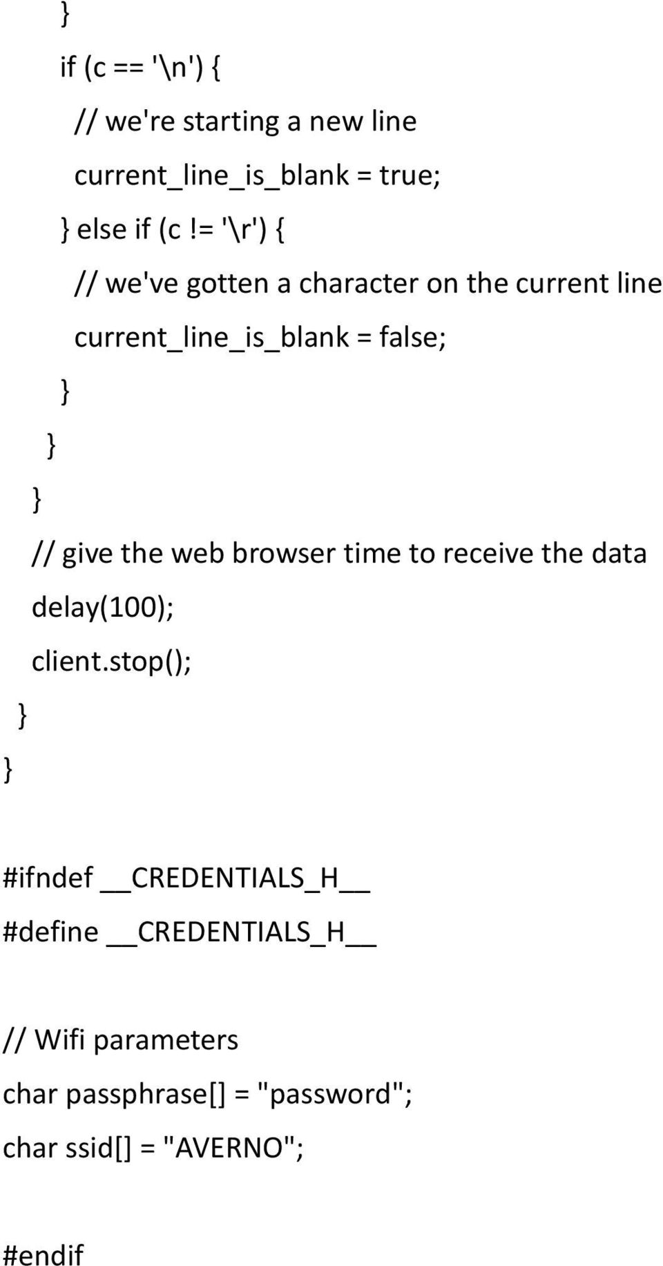 give the web browser time to receive the data delay(100); client.