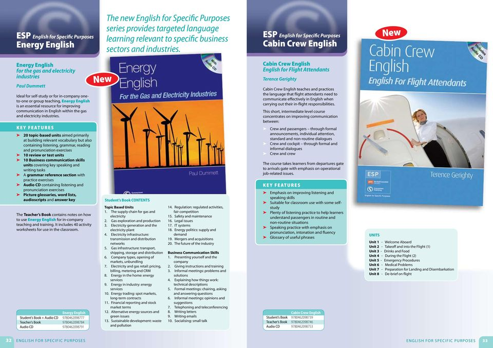 English is an essential resource for improving communication in English within the gas and electricity industries.