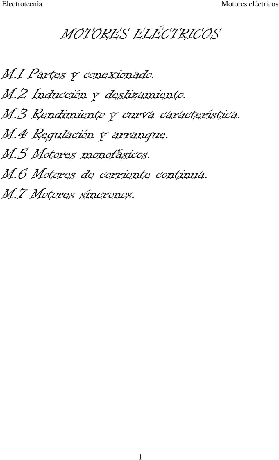 4 Regulación y arranque. M.