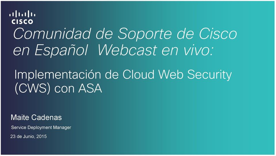 Web Security (CWS) con ASA Maite Cadenas