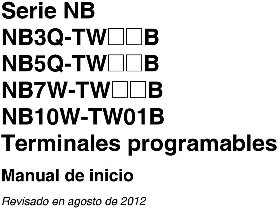 Terminales programables Manual