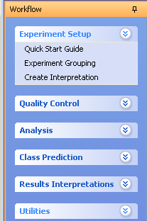 Grouping / Create Interpretation Create conditions and