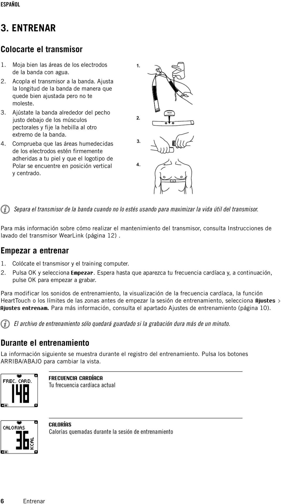 ESPAÑOL. Polar FT4 Manual del Usuario - PDF