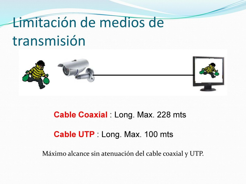 228 mts Cable UTP : Long. Max.
