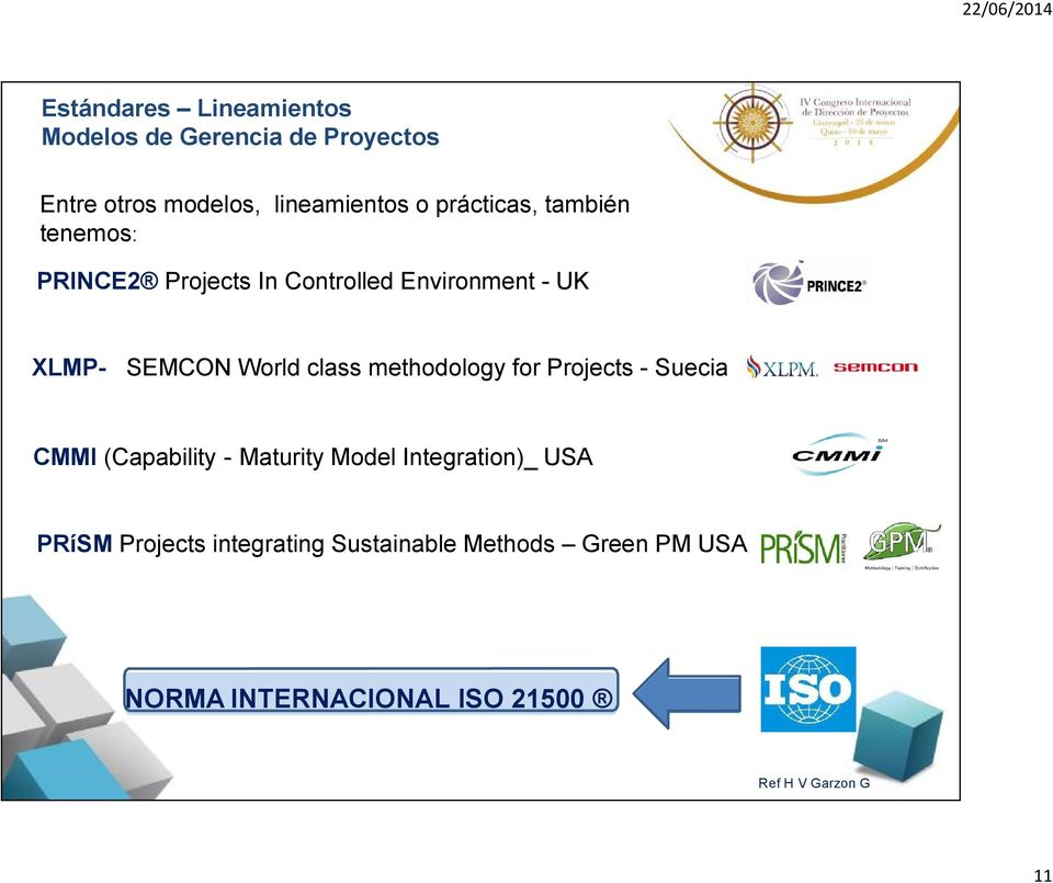 class methodology for Projects - Suecia CMMI (Capability - Maturity Model Integration)_ USA PRíSM