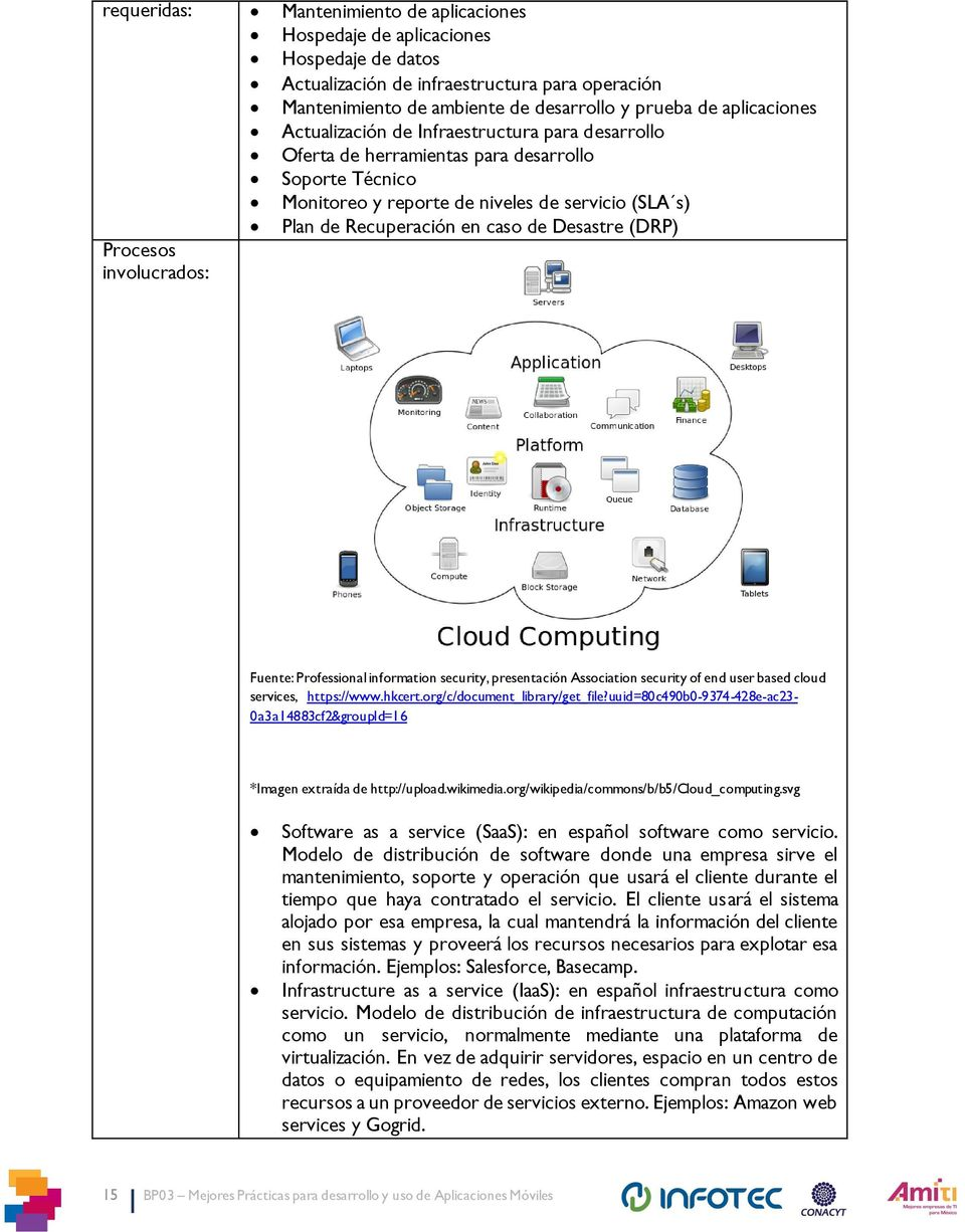 (DRP) Procesos involucrados: Fuente: Professional information security, presentación Association security of end user based cloud services, https://www.hkcert.org/c/document_library/get_file?