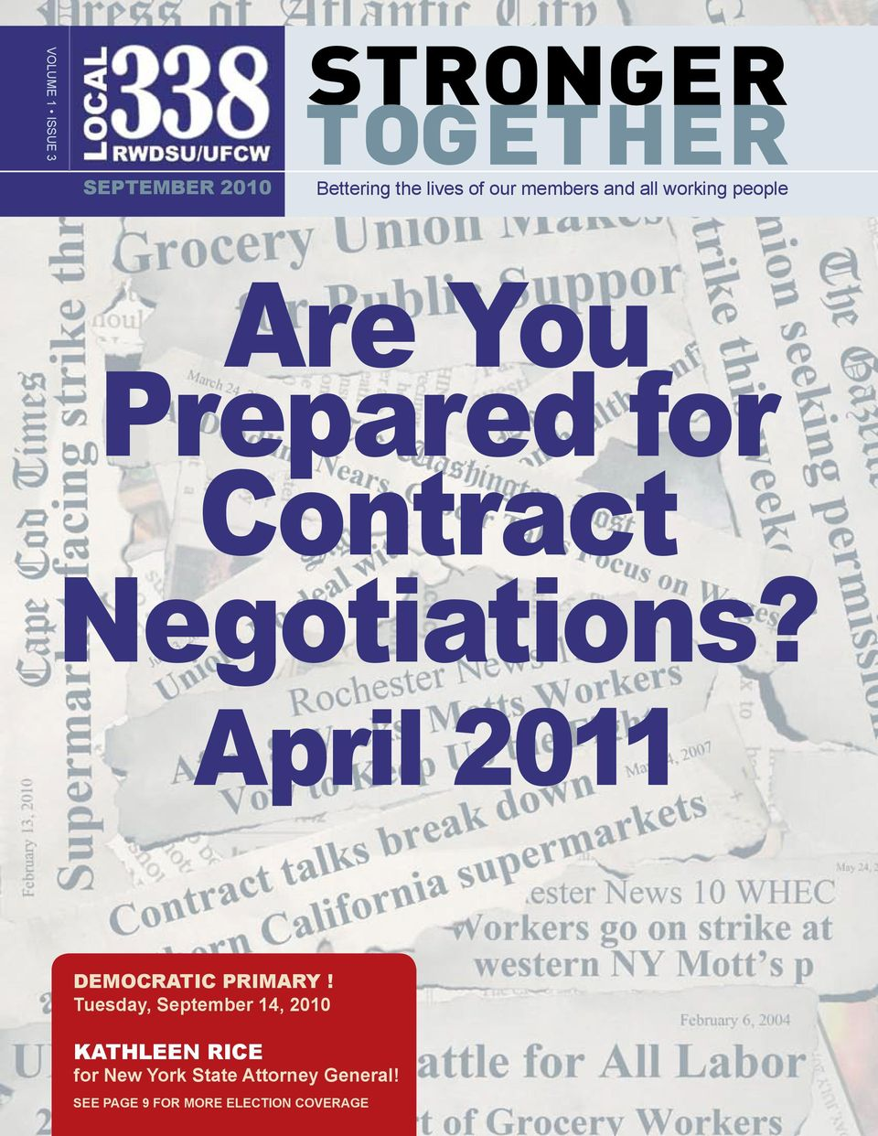 Negotiations? April 2011 DEMOCRATIC PRIMARY!