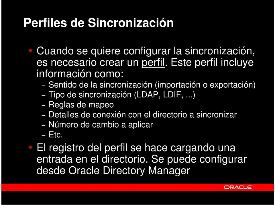 sincronización (LDAP, LDIF,.