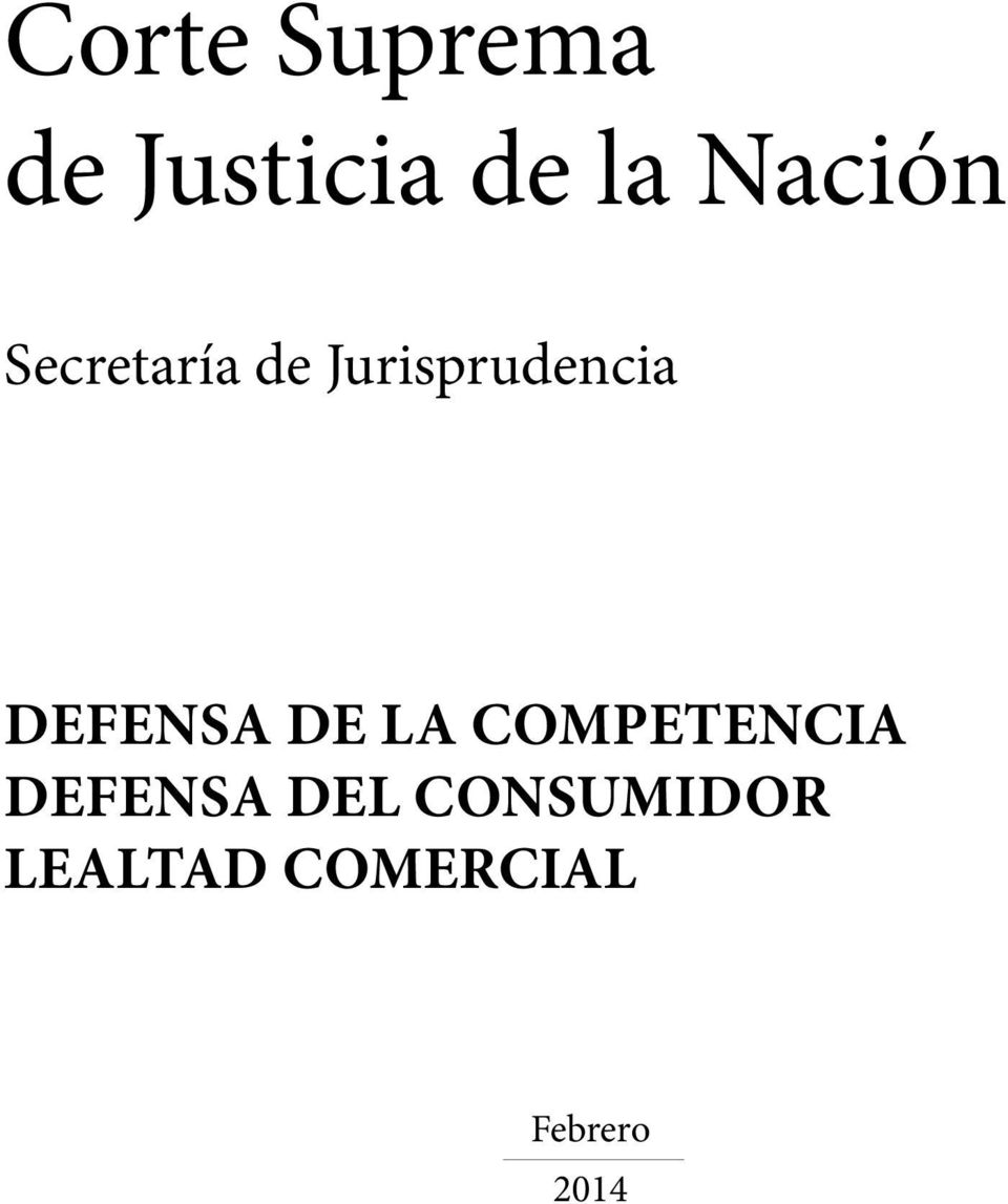 Defensa de la competencia Defensa