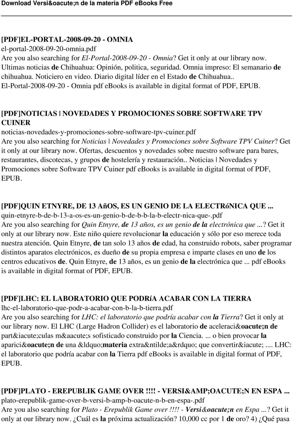. El-Portal-2008-09-20 - Omnia pdf ebooks is available in digital format of PDF, EPUB.