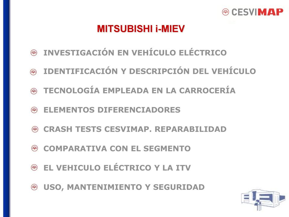 ELEMENTOS DIFERENCIADORES CRASH TESTS CESVIMAP.