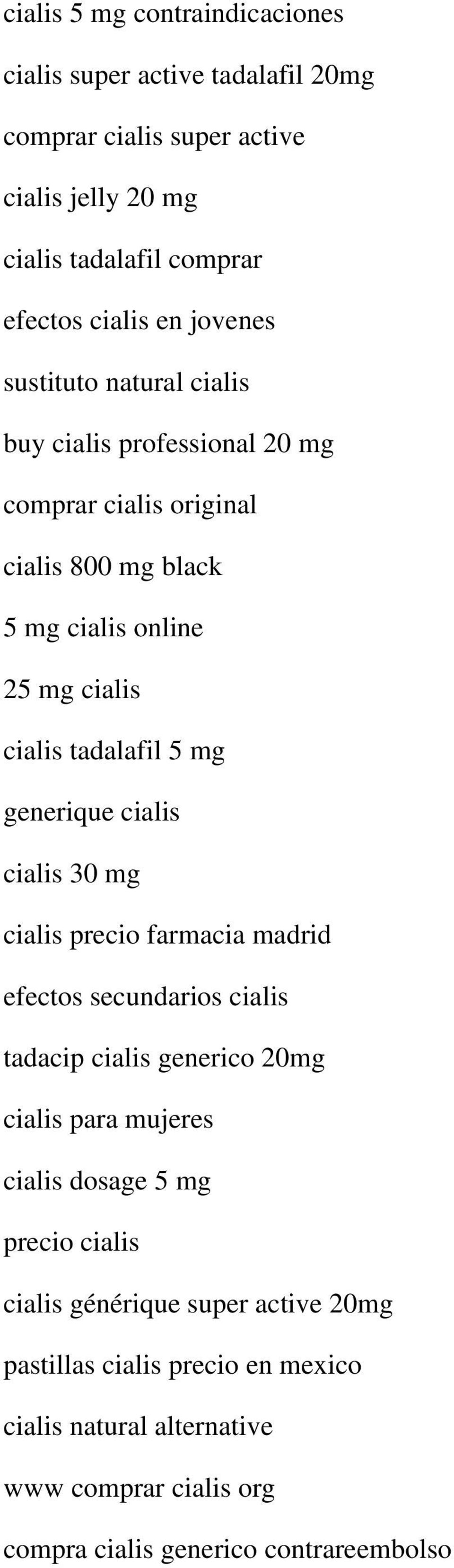 Cialis in madrid