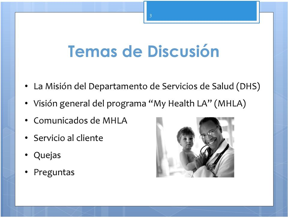 Visión general del programa My Health LA