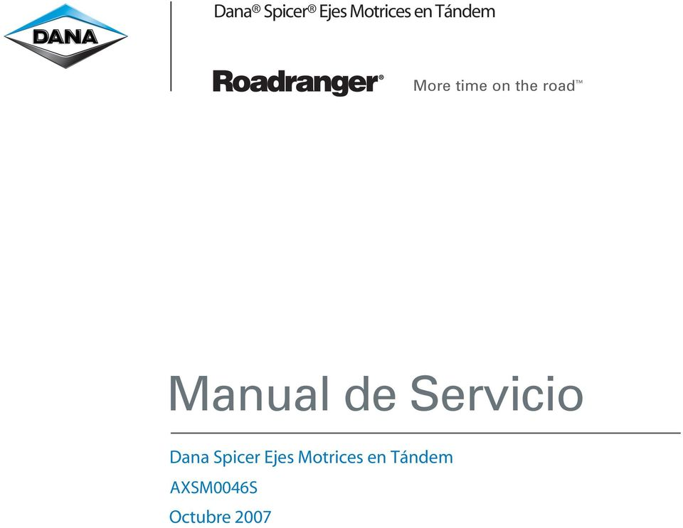 Manual de Servicio  Tándem
