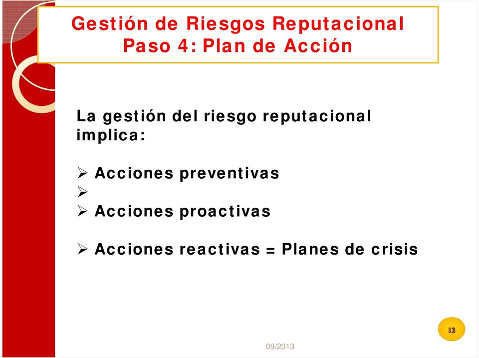 implica: Acciones preventivas Acciones