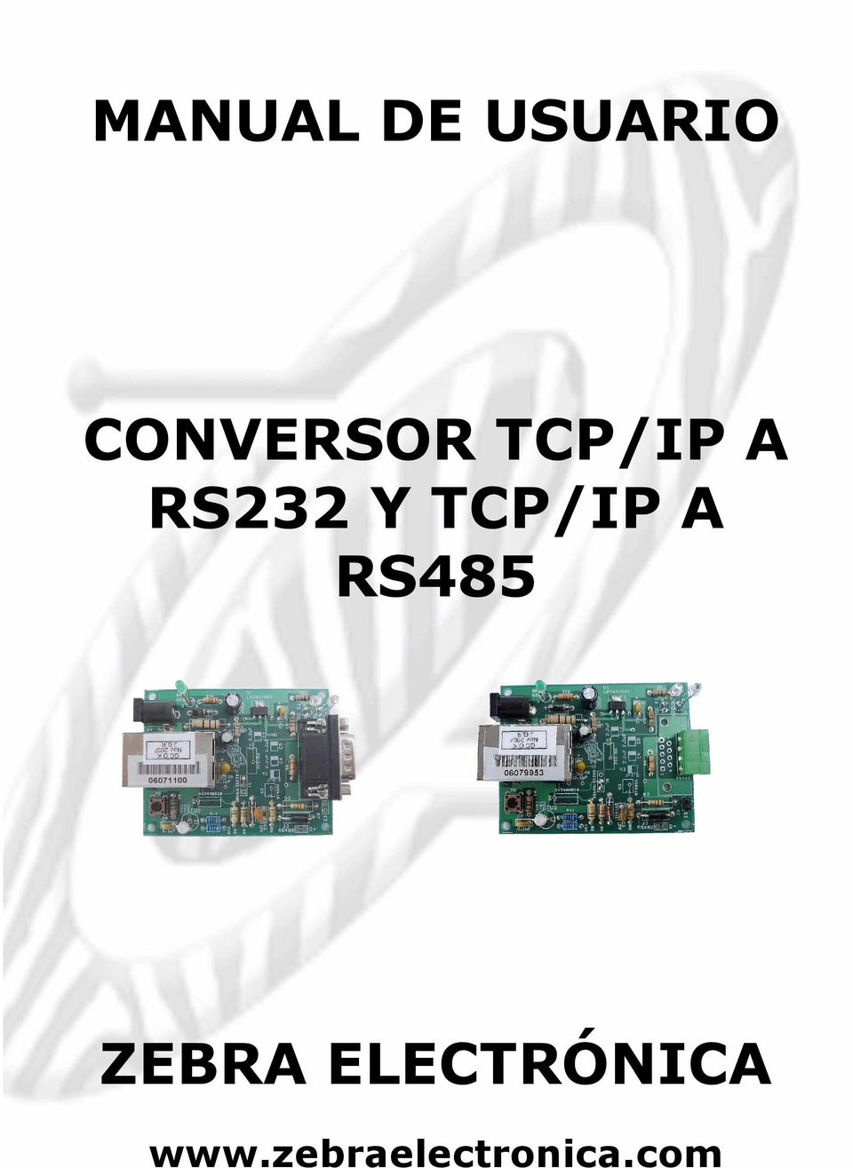 RS232 Y TCP/IP A