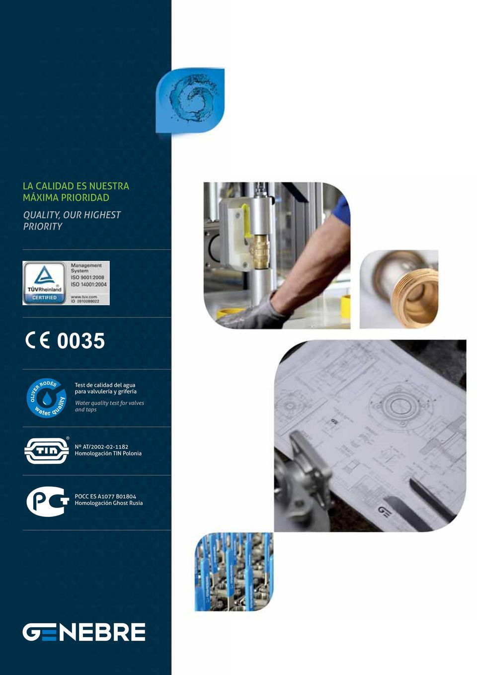 grifería Water quality test for valves and taps Nº