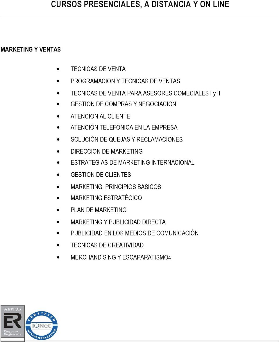 RECLAMACIONES DIRECCION DE MARKETING ESTRATEGIAS DE MARKETING INTERNACIONAL GESTION DE CLIENTES MARKETING.