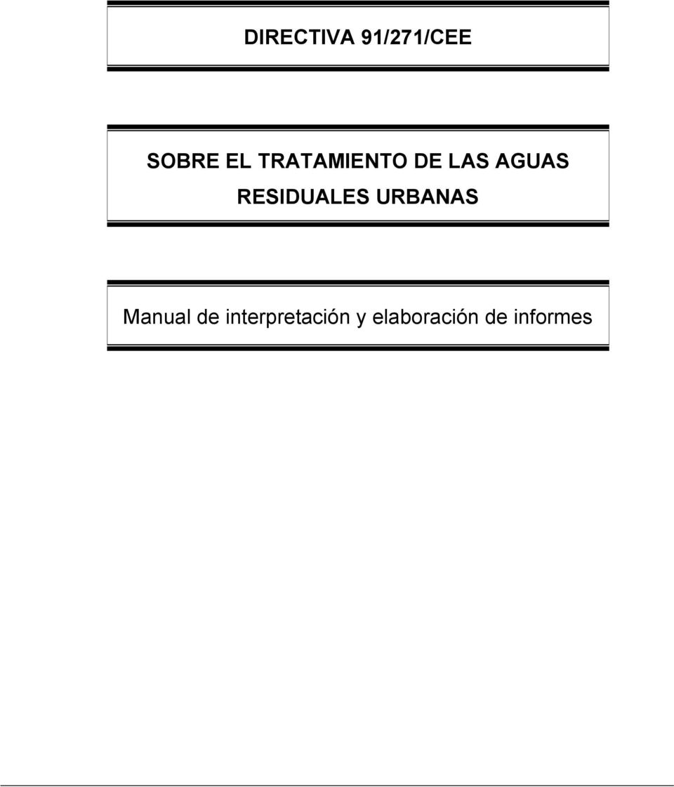 RESIDUALES URBANAS Manual de