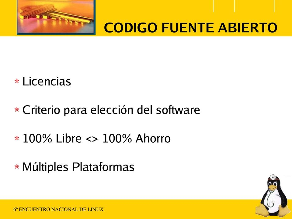 elección del software 100%